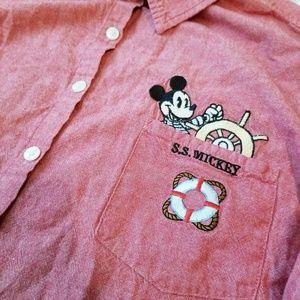 VTG Disney SS Mickey Button Down Shirt